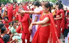 Festivals in Nepal: Teej Dance